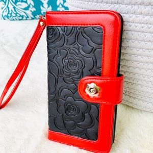 Accessories - For IPhone 7/8 Plus Wallet Case W/ Floral Embossed
